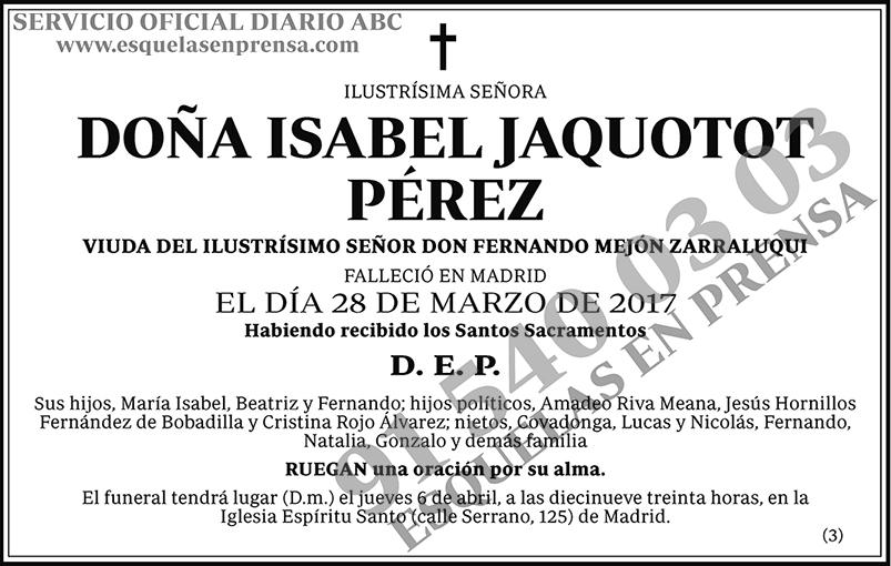 Isabel Jaquotot Pérez